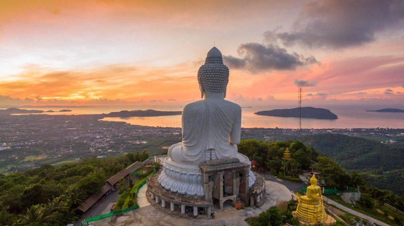 Famous Big Buddha in Phuket Thailand