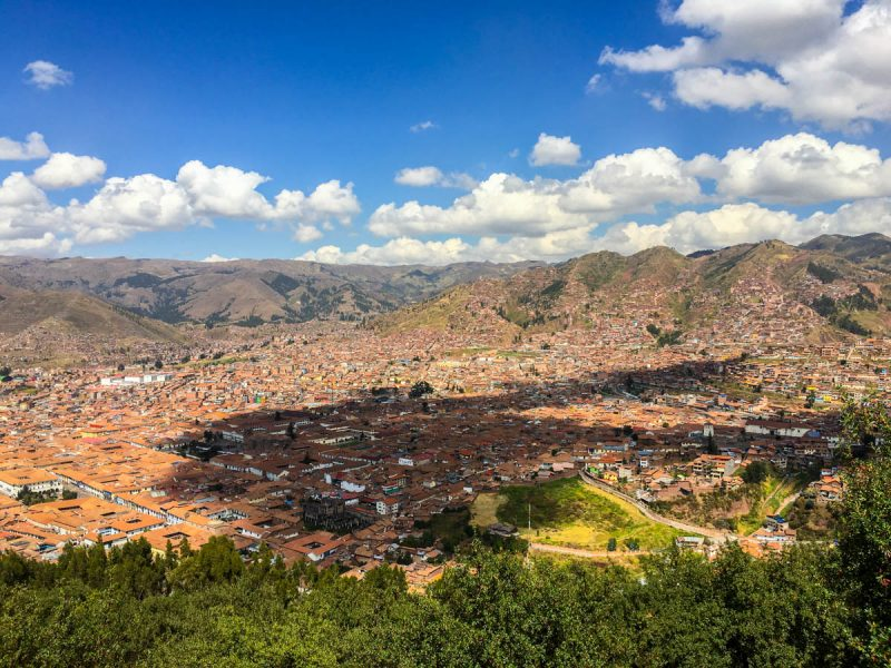 Beautiful views of Cusco Peru