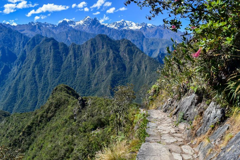 Hiking views in Machu Picchu Peru