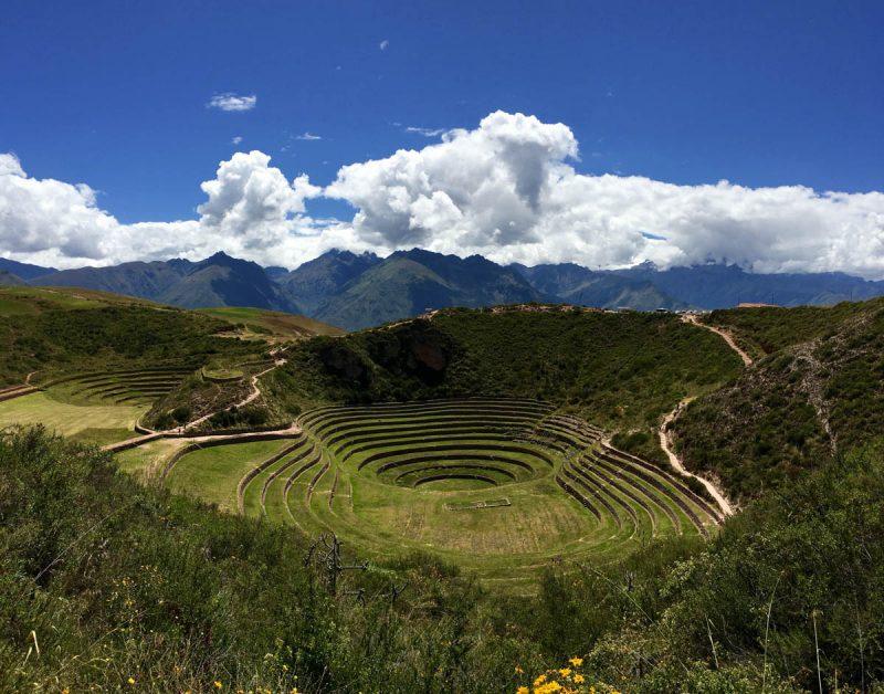 Beautiful Inca site of Moray Sacred Valley Peru