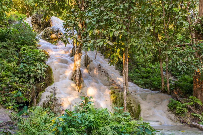 Namtok Bua Tong waterfall outside Chiang Mai Thailand