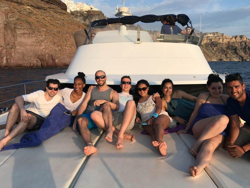 Relaxing in style in Santorini Greece