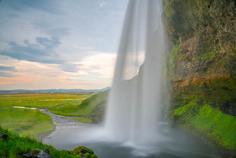 Silky smooth Seljalandsfoss waterfall