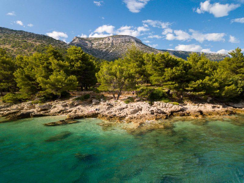 View of shore off Brac island Croatia