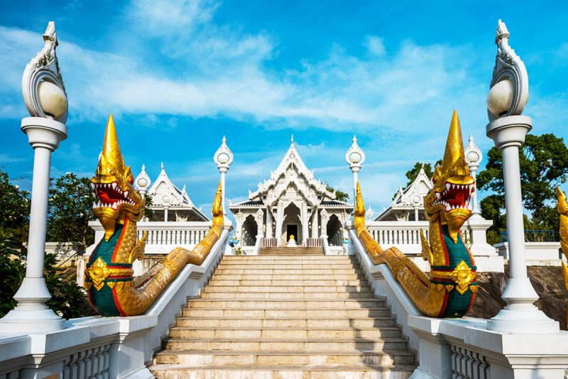 Wat Kaew temple in Krabi Thailand