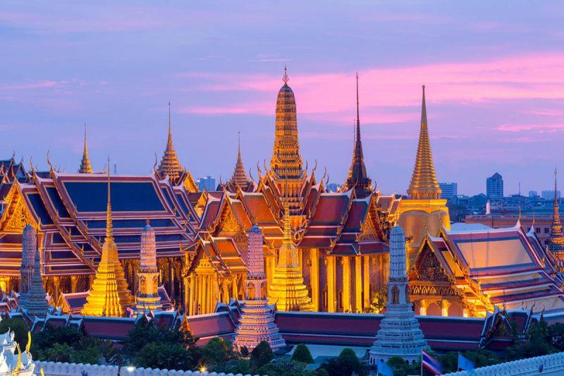 Wat Phra Kaew Temple in Bangkok Thailand