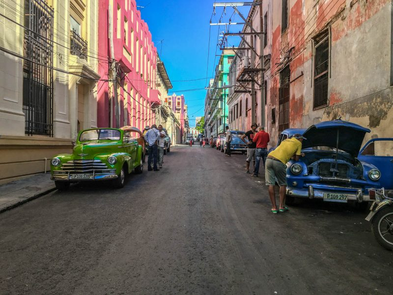 Hanging out in Central Havana Cuba