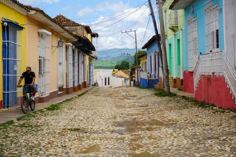 Cobblestone street in Trinidad Cuba