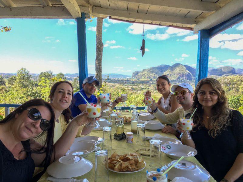 Organic farm lunch in Vinales Cuba