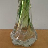 Green Val St lambert Lamp