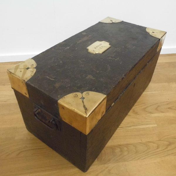 georgian brass bound trunk