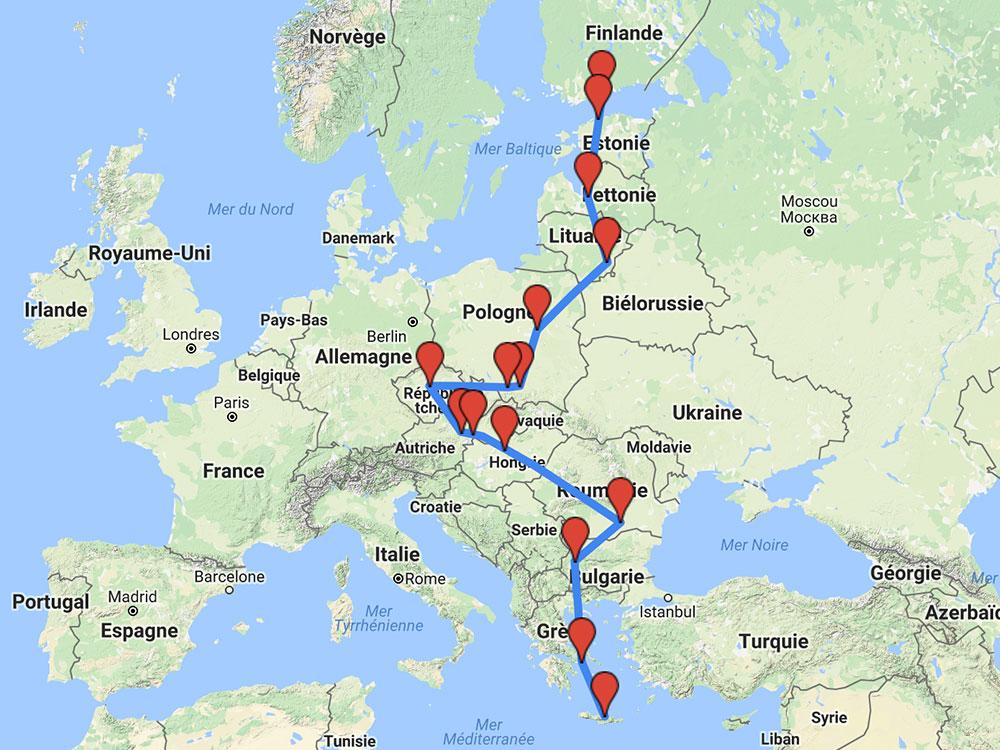 Bucket-list du voyageur - Itinéraire roadtrip en europe