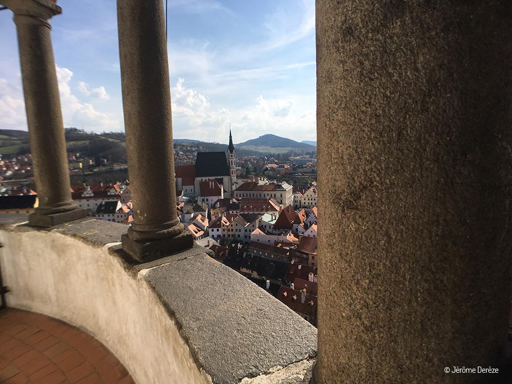 La vue sur Cesky Krumlov depuis la tour