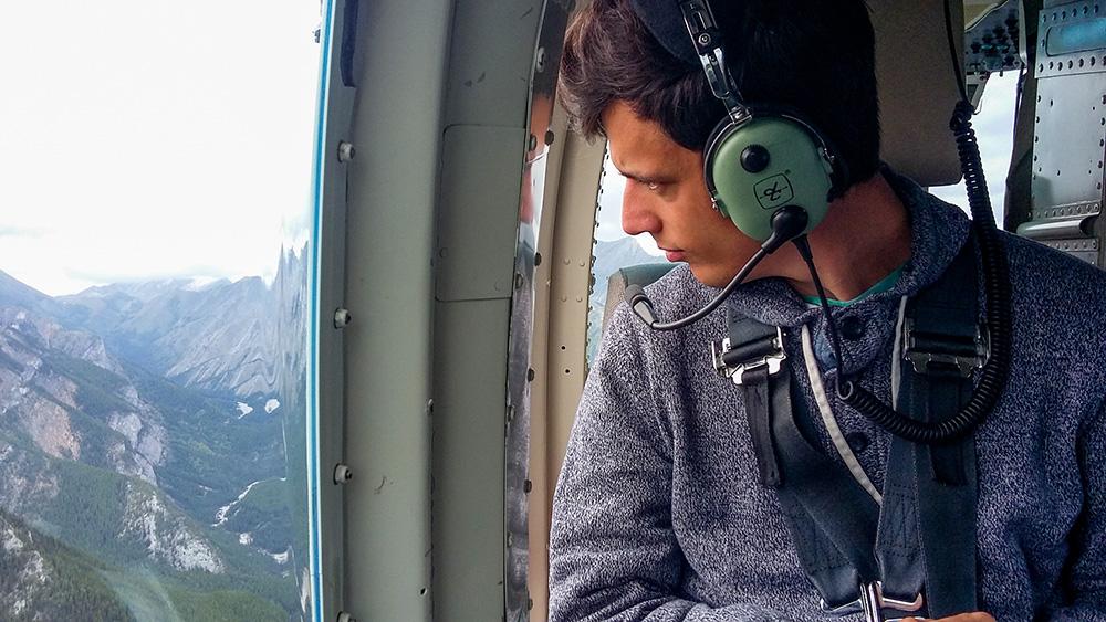 Voler en hélicoptère dans les Rocheuses