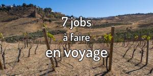Que faire comme jobs en voyage ?