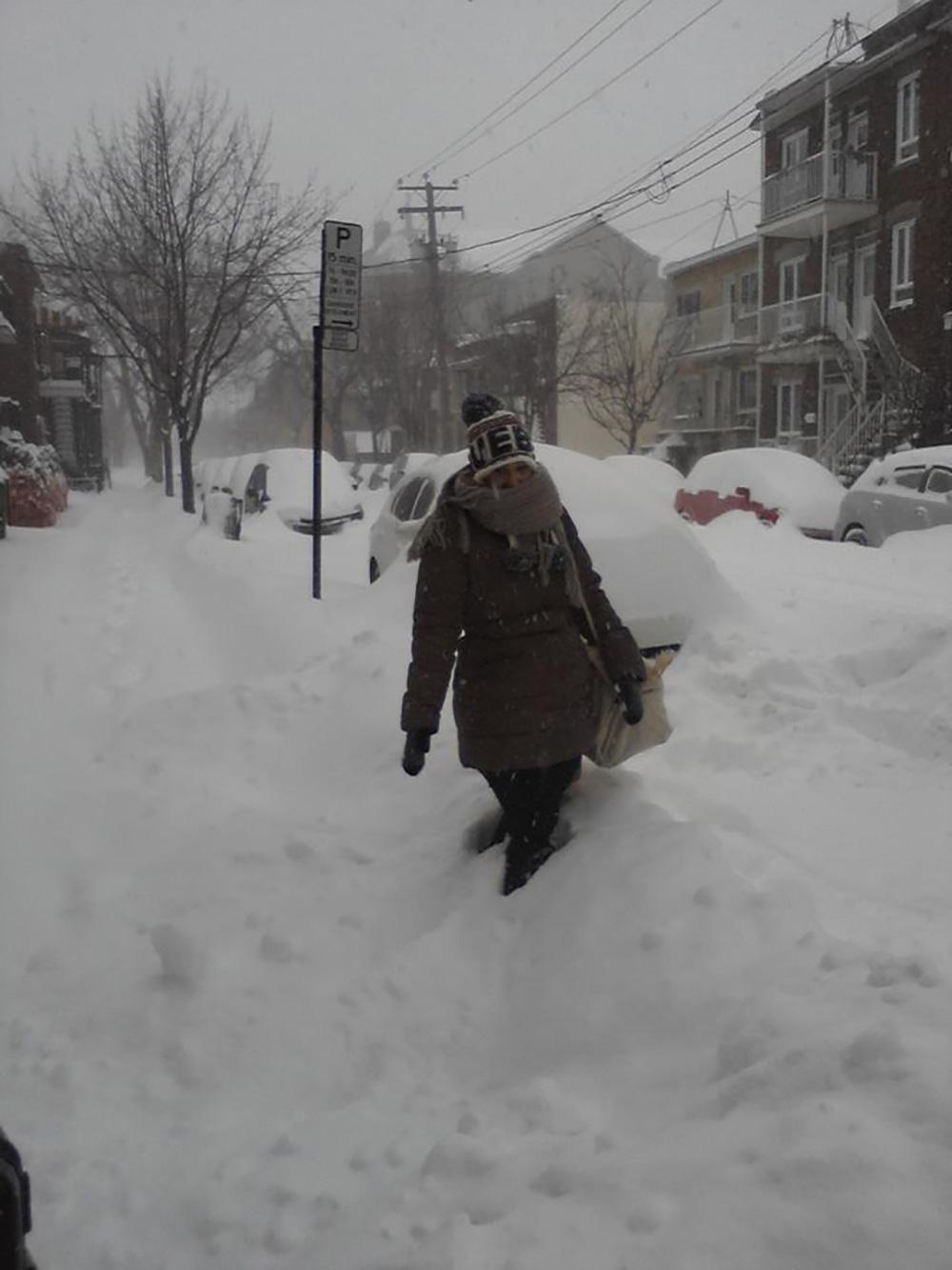 Faire un Erasmus à Montréal - La neige à Montréal