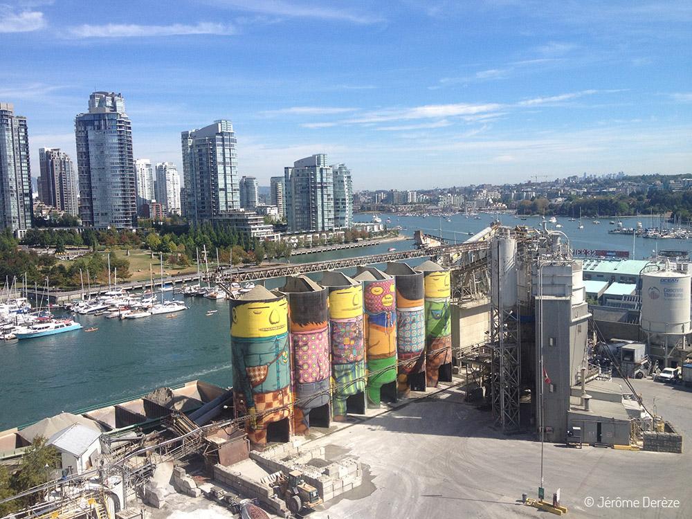 Voyager à Vancouver - Île Granville silos