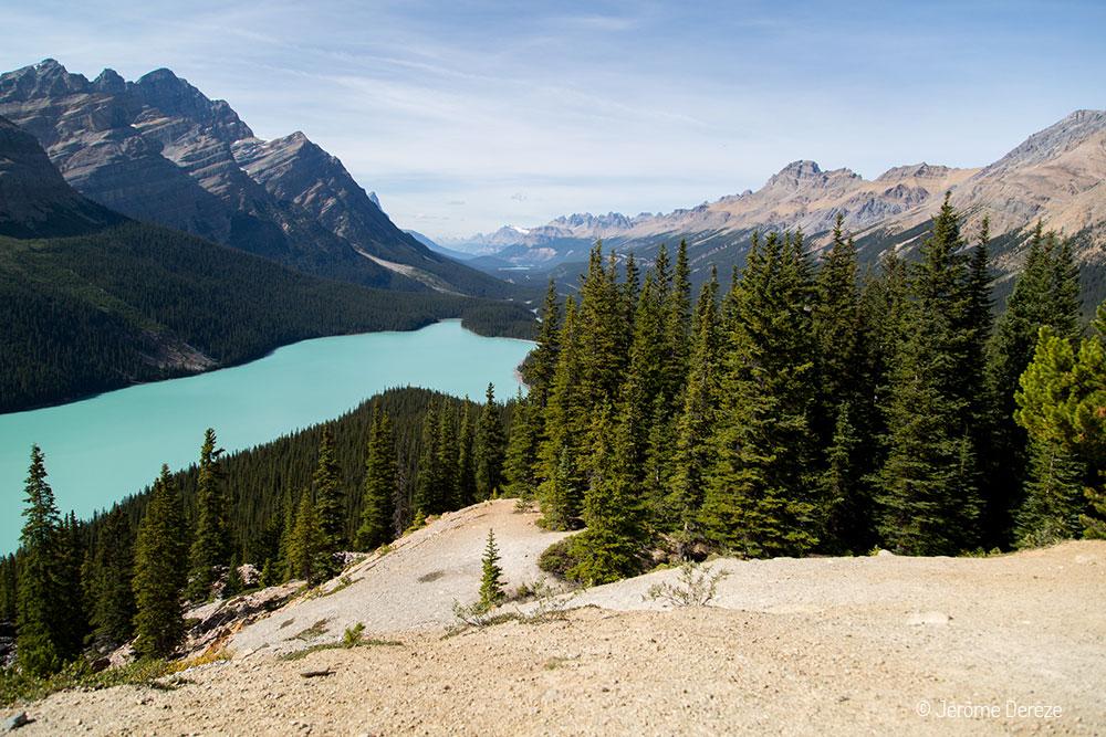 Routes touristiques à faire dans l'ouest canadien - Route 93 Promenade des glaciers lac peyto