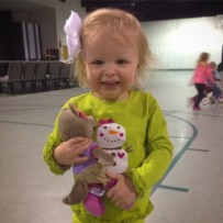 """After going on a wolf hunt by tracing her steps, I found her stuffed animal in a building she left it at a week ago. Her words: """"(gasp) Dad! You saved Violet!"""" If I accomplish nothing else today, that will be enough."""