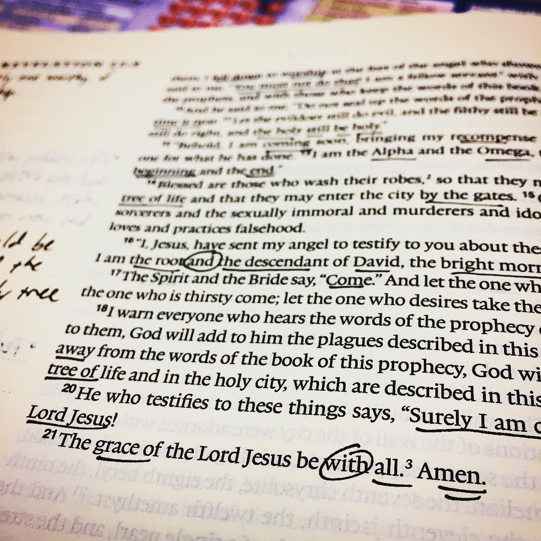 Finishing up our Fall sermon series and chronological Bible reading plan. August, get here already! #theword