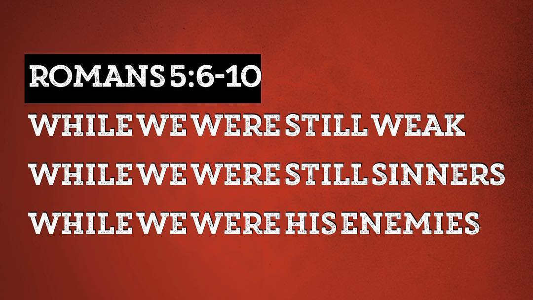Anyone thankful that Jesus didn't wait for us to be strong, obedient friends before he saved us? #aftergodsownheart