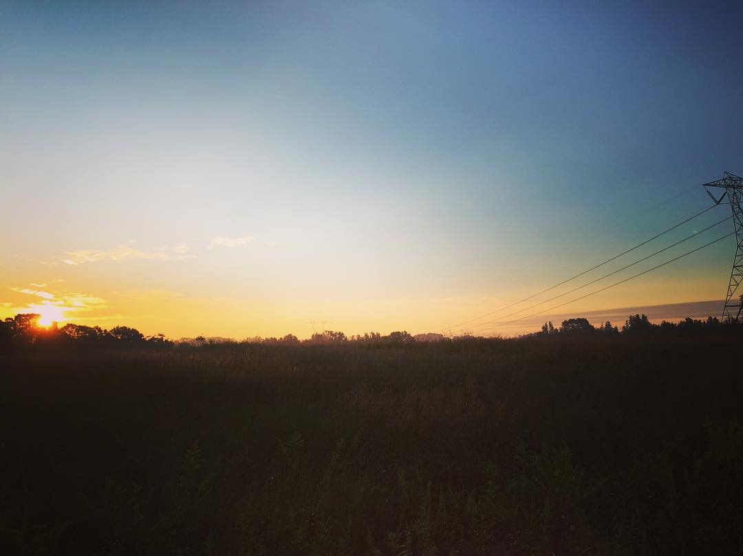 "Morning run sunrise. ""From the rising of the sun to its setting, the name of the Lord is to be praised!"" ‭‭Psalms‬ ‭113:3‬"