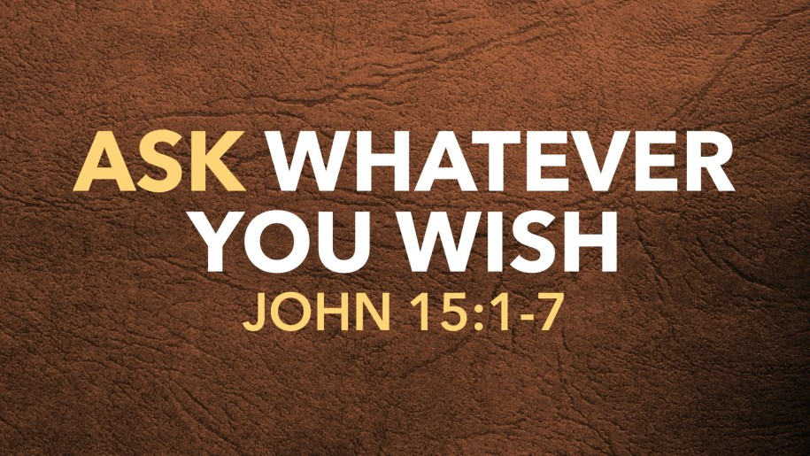 Ask Whatever You Wish