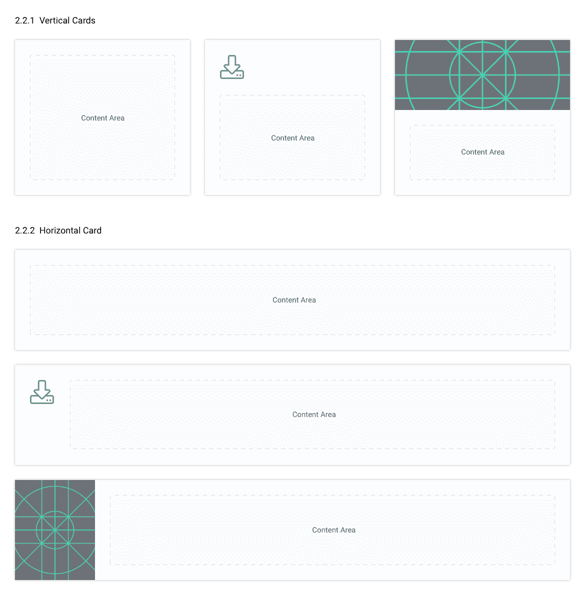 Basic styles for reusable card components.