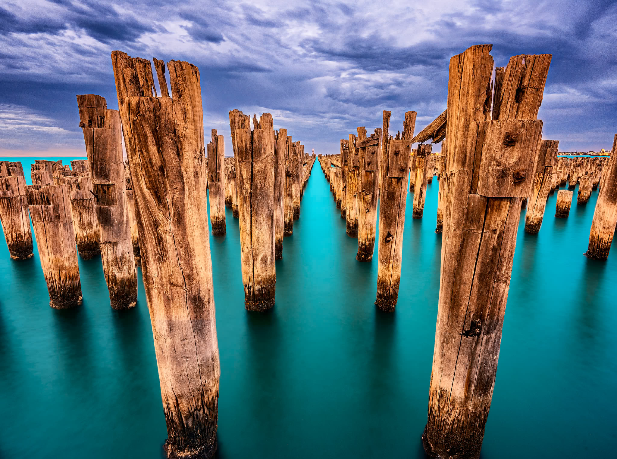 Princes Pier in Port Melbourne, Victoria, Australia