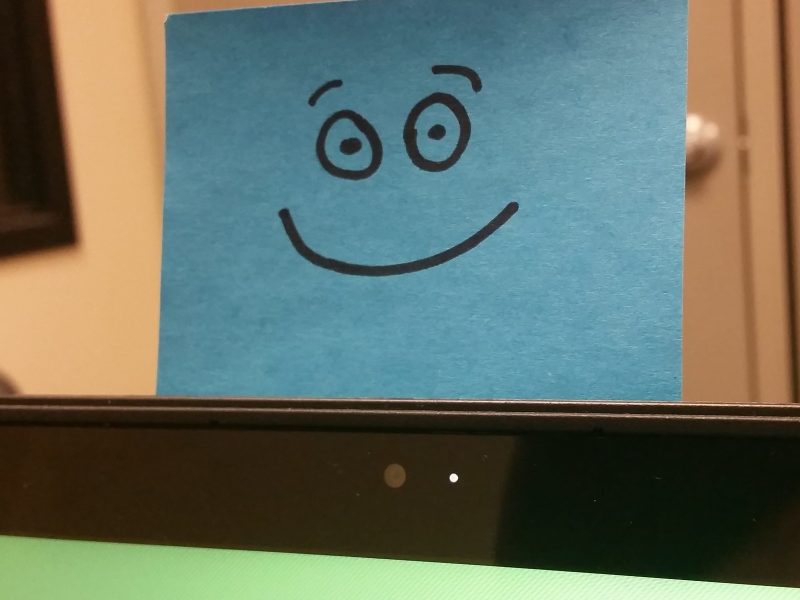 Post-it note with smiling face