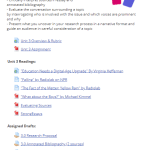 Screenshot of Unit from Moodle course