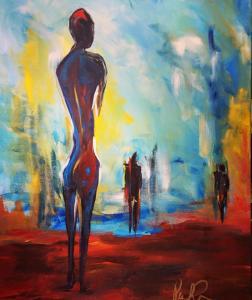 """Distant Nudes"" 20x24 Acrylic $325"
