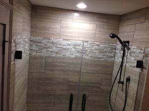 Shower in One Bedroom Loft