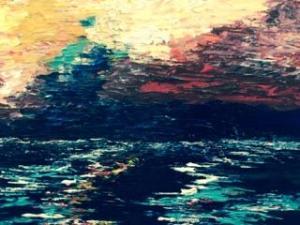 Sarah Tinsley Parker Powerful Sea Acrylic on Canvas 18x24