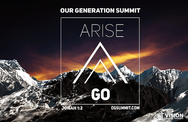 An Invitation to the Our Generation Summit – Missions Retreat