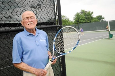 Harvey Zorbaugh playing competitive tennis at 81 ...