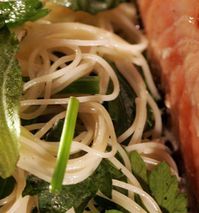 Recipe Angel Hair Pasta With Fresh Shiso Herb Mix