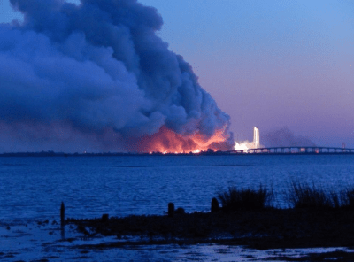 Unmanned Antares rocket explodes upon liftoff in Virginia ...