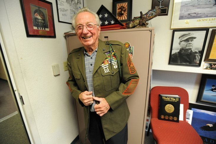 World War II Vet Retires After 65 Years With Marines The