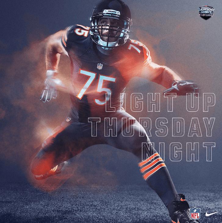 NFL Reveals Bears Packers Color Rush Uniform Combinations Chicago Tribune