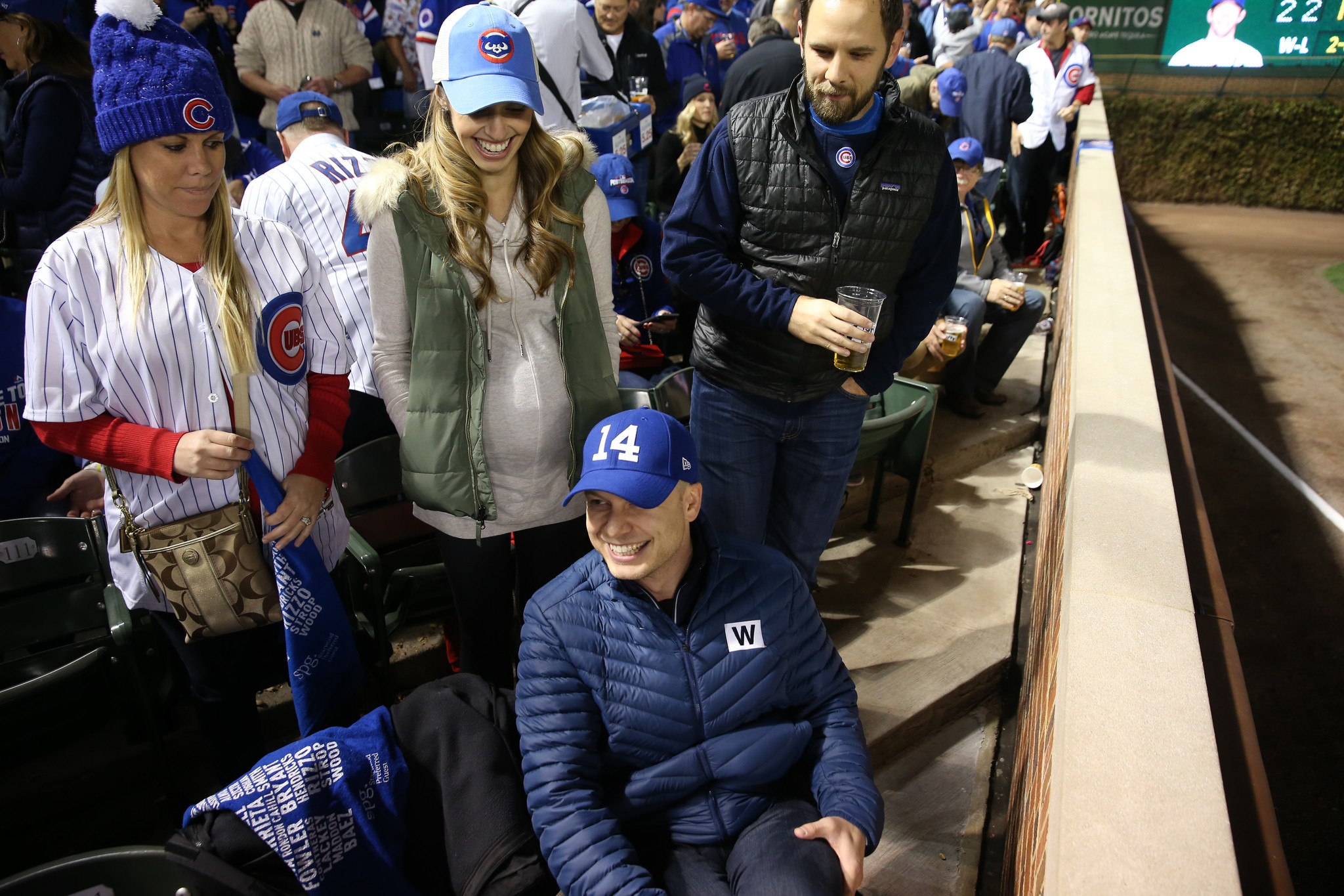 Fan In Bartman Seat For Game 6 Just Happy Thrilled To