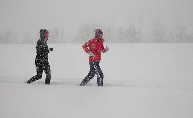 Na snježnom zagrebačkom nasipu