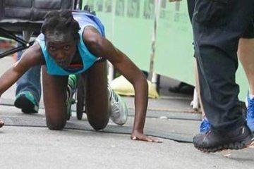 Hyvon Ngetich puzi na cilju maratona