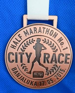 medalje sa prvih polumaratona su posebno drage!
