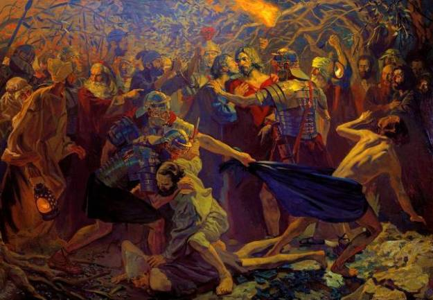 Pavel Popov's --Judas betrays Jesus with a kiss