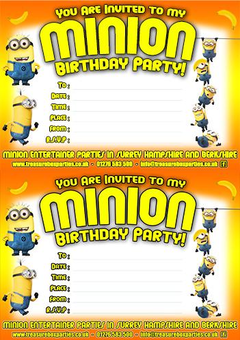 a free printable minions birthday party
