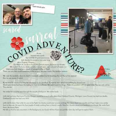Scrapbooking pandemic example of template for family history stories