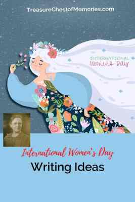 International Women's Day Writing Ideas Pinnable graphic