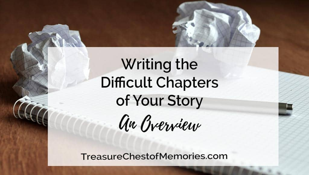 Writing the difficult chapters of your story: An Overview