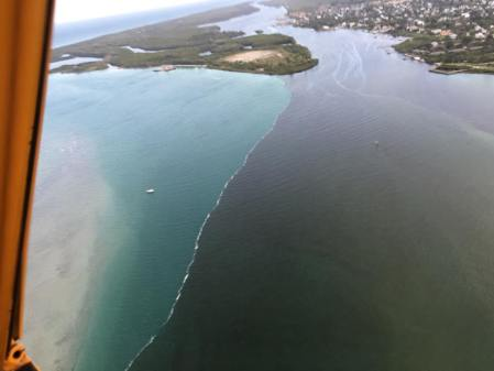 Confluence of SLR/IRL at/near Sewall's Point on its way through St Lucie Inlet. Photo: Ed Lippish